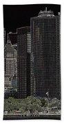 Manhattan Skyline Abstract Bath Towel