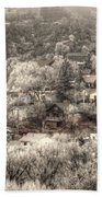 Manitou To The South In Snow Close Up Bath Towel
