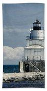 Manitowoc Breakwater Lighthouse Bath Towel