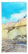 Manly Beacon From Golden Canyon In Death Valley National Park-california Bath Towel