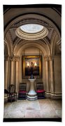 Mansion Hallway Triptych Bath Towel