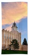 Manti Temple Morning Bath Towel