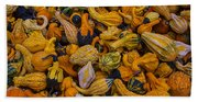 Many Colorful Gourds Bath Towel