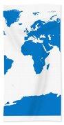 Map In Blue Bath Towel