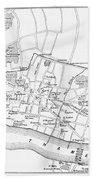 Map: London, 13th Century Bath Towel