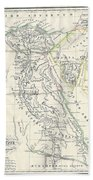 Map Of Ancient Egypt Hand Towel
