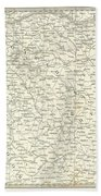 Map Of Bombay Presidency And Goa Hand Towel