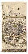 Map Of Copenhagen 1837 Bath Towel