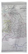 Map Of England Hand Towel
