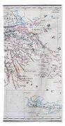 Map Of Greece Bath Towel
