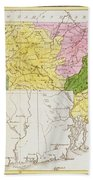 Map Of Massachusetts, From Historical Collections Of Massachusetts, By John Warren Barber, 1839 Bath Towel
