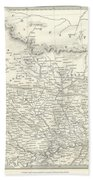 Map Of North India Nepal And Allahabad Bath Towel