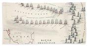 Map Of The Battle Of Trafalgar Bath Towel