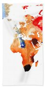 Map Of The World 8 -colorful Abstract Art Bath Towel