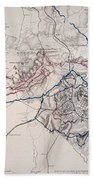 Map: Siege Of Atlanta 1864 Bath Towel