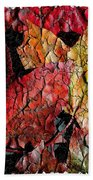 Maple Leaves Cracked Square Hand Towel