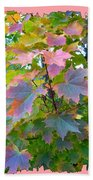 Maple Magnetism Painting Bath Towel