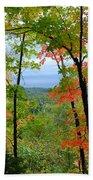 Maples Against Lake Superior - Tettegouche State Park Bath Towel