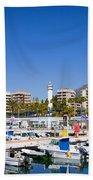Marbella Marina In Spain Hand Towel