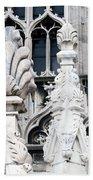 Marble Facade II Duomo Di Milano Italia Bath Towel