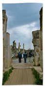 Marble Way From Theater To Central Ephesus-turkey Bath Towel