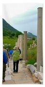 Marble Way In Ephesus-turkey Bath Towel