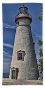 Marblehead Lighthouse Lake Erie Bath Towel