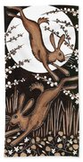 March Hares 2013 Woodcut Photograph By Nat Morley