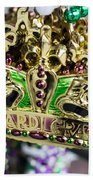 Mardi Gras Beads Bath Towel