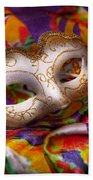 Mardi Gras - Celebrating Mardi Gras  Bath Towel
