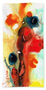 Mardi Gras - Colorful Abstract Art By Sharon Cummings Hand Towel