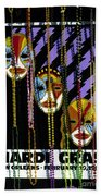 Mardi Gras Poster New Orleans Bath Towel