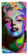 Marilyn Monroe - Abstract 1 Bath Towel
