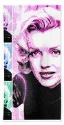 Marilyn Monroe Art Collage Bath Towel