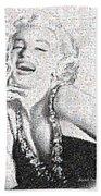 Marilyn Monroe In Mosaic Bath Towel