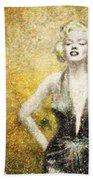 Marilyn Monroe In Points Hand Towel
