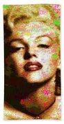 Marilyn Monroe Name Characters Bath Towel