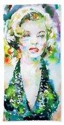 Marilyn Monroe Portrait.1 Bath Towel