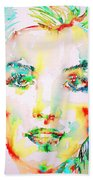 Marilyn Monroe Portrait.5 Bath Towel