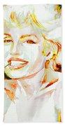 Marilyn Monroe Portrait.9 Bath Towel