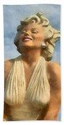 Marilyn Monroe Watercolor Bath Towel