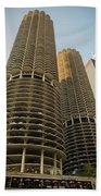 Marina City Chicago Bath Towel
