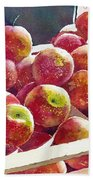 Market Apples Bath Towel