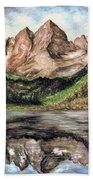 Maroon Bells Colorado - Landscape Bath Towel