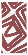 Marsala Envelopes- Abstract Pattern Bath Towel