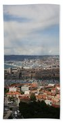 Marseille View From Cathedral Notre Dame De La Garde Bath Towel