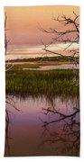 Marsh Oil Painting Bath Towel