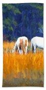 Marsh Ponies Bath Towel