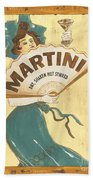 Martini Dry Bath Towel by Debbie DeWitt