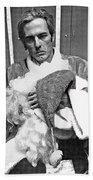 Marty Smith As Santa Claus Burger King Tucson Arizona 1982 Bath Towel